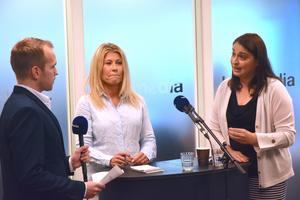 Malin Wengholm (M) och Rachel De Basso (S) kom med motsatta bilder av hur regionen och den styrande koalitionen agerat.