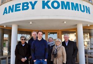 Anebymoderaterna Anita Walfridsson, Ulf Lundberg, Edvin Göransson, Caroline von Wachenfelt, Wanja Dolck och Mats Hansson ser fram emot höstens val med tillförsikt.