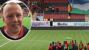 Martin Axelsson var den som drog igång lördagens aktion på Jämtkraft Arena. Bild: Niclas Åkerström.