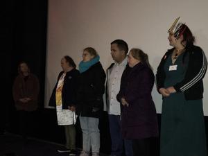 Hudik-gänget berättar om filmen inför visningen.