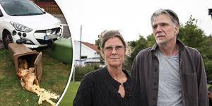Helena Byström och Mats Johansson är besvikna över att kommunen inte tycks vilja ta ansvar för konsekvenserna av olyckan.