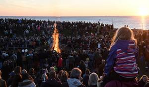 En majbrasa, eller majkase, på valborgsmässoaftonen.Bild: Johan Nilsson/TT