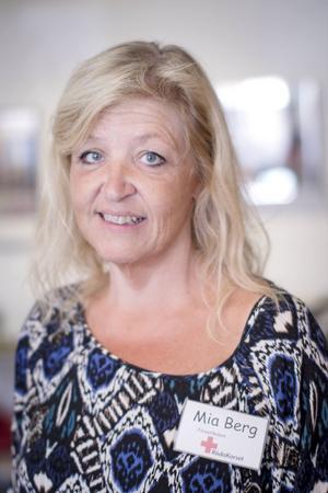 Mia Berg, föreståndare på Röda Korset i Bollnäs.