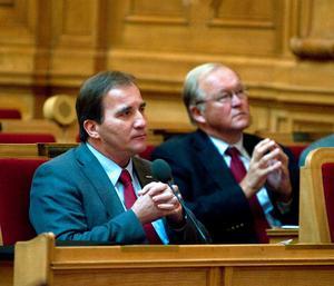 Stefan Löfven och Göran Persson. Bild: Bertil Ericson/TT