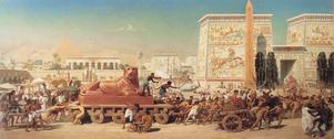 Judarnas situation i Egypten enligt Edward Poynters målning från 1867.