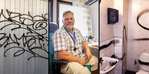 Bilder: Torbjörn Ingvarsson/ Olov-Anders Sikku/ Mikael Östling. Göran Bengtsson, teknisk chef på Bräcke kommun är besviken över vandalismen.  – Jag tycker det är så onödigt. OBS: Bilderna är inte kopplade till den aktuella skadegörelsen.