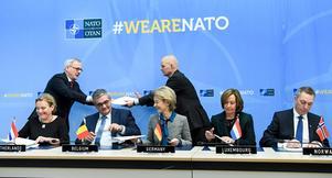 Alliansen vill att Sverige ska bli medlem i Nato.Foto: AP