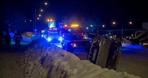 Olyckan inträffade under fredagskvällen.