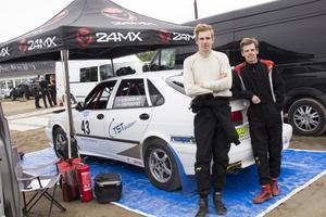 Bröderna Alexander och André Nordqvist valde att börja med rally eftersom pappa körde när de var små.