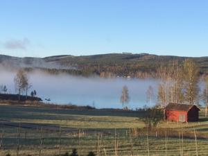 Dimman lättar över Långön