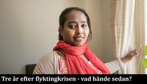 Efter en traumatisk flykt från Eritrea trivs Murshi Ali Adallah nu med livet som tvåbarnsmamma i Hallstavik.