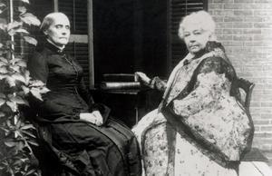 Susan B. Anthony till vänster och Elizabeth Cady Stanton till höger.Bild: AP Photo/Susan B. Anthony House