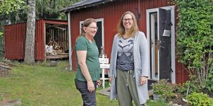 Caroline Ljung, t v, med sina praliner och annat från Ljungs Goa är en av dem som deltar på Konstfesten hemma hos Linda Undegård.