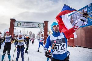 Jan Obermayer från Tjeckien tyckte det var svåra förhållanden under söndagens Vasalopp, men ett vackert lopp.