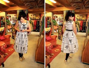 Den här fantastiska klänningen vore väl något för en lärare att ha på skolavslutningen?