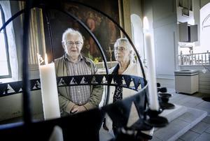 Lars-Åke och Gun Johansson i Dagsbergskyrkan.