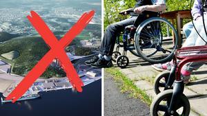 Else Ammor och Sundsvallspartiet vill bland annat stryka logistikparken och i stället satsa på vård, skola och omsorg. Bilder: Sundsvalls logistikpark AB / Ove Öst