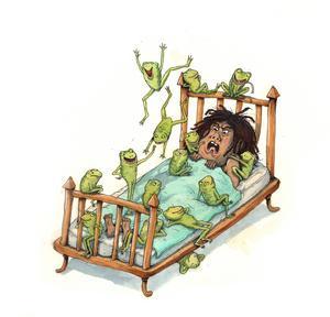 Farao och grodplågan. Illustration av Marcus-Gunnar Petterssons i  nya