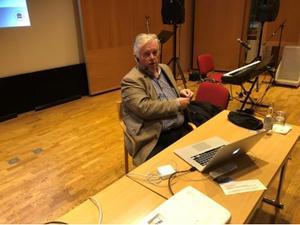 Yngve Gustavsson, professor i geriatrik, föreläste.   Foto: PG Forslund