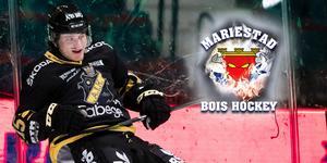 Oliver Ödman-Hadzinikolic har startat om i division 1-klubben Mariestad – efter fjolårssäsongen med AIK i hockeyallsvenskan. Foto: Kenta Jönsson/Bildbyrån