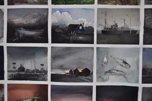 Småbilder, som ger ett smakprov på Magnus Peterssons konst.