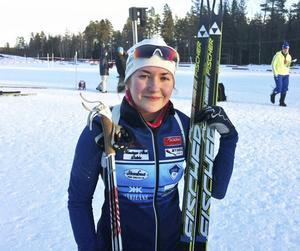 Linn Larsson, Hede, finns med i juniorlandslaget i skidskytte ...