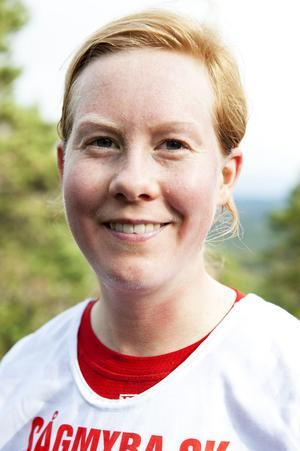 Louise Bergfeldt, Hofors LK, var med för fjärde gången men tog sin första seger i går.