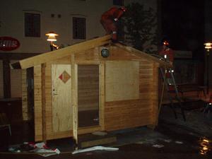 Räddningstjänsten fick rycka ut när en valstuga började brinna i Sollefteå