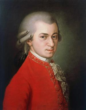 Wolfgang Amadeus Mozart. Postum målning av Barbara Krafft från 1819.