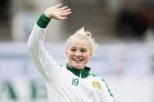 Hej Borlänge! Klara Folkesson, tidigare i Hammarby, är Kvarnsvedens fjärde nyförvärv för säsongen. Foto: Bildbyrån