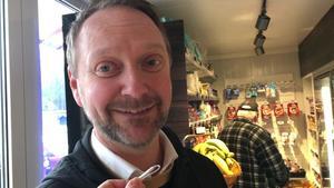 Daniel Albinsson, butikschef.