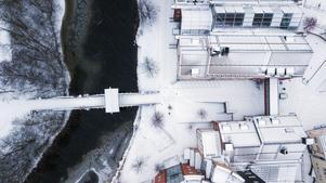 Bron över Selångersån vid Mittuniversitetet.