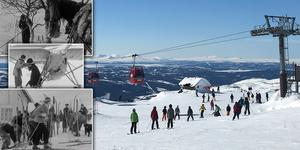 Skärmklipp från SVT:s Öppet arkiv samt bild från dagens Åre fotograferad av Anna Sundkvist.