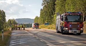 Tre personer i 80-årsåldern omkom i samband med olyckan på E14.