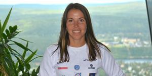Charlotte Kalla, ursprungligen från Piteå känner sig som hemma i Sundsvall.