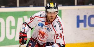 Conny Strömberg (här i Västerviks tröja) spelar gratis med Örnsköldsvik Hockey. Han debuterar på söndag då Örnsköldsvik möter Boden på bortais.