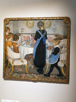 Elsa Backlund Celsings Kaffebordet dukas från 1916. Jamtli och Nationalmuseums utställning. Fotograf: Agneta Sjöberg