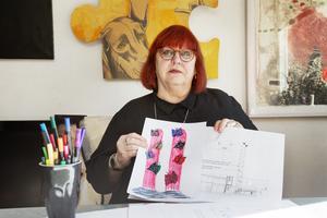 Kiki Larsson blev inspirerad av GD:s aprilskämt i år. Återstår att se om hon förverkligat sin idé när hon nu är curator för utställningen i Forsbacka bruk i sommar.