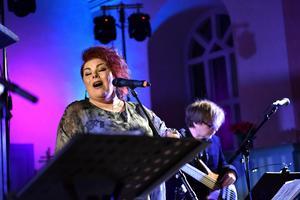 Petra Kvännå tog ton även förra året i Sollerö kyrka.