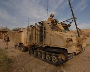 Många av de bandvagnar som repareras har använts i Afghanistan.