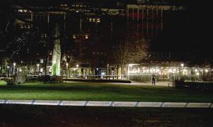 Larmet kom till polisen 01.20 i natt. Foto: Niklas Luks/TT