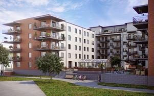 84 nya lägenheter ska byggas vid Gavleån i centrala Gävle.