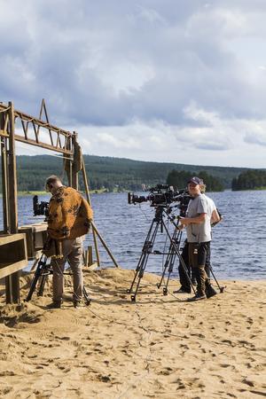 Det blev många omtagningar ur flera olika kameravinklar under den första inspelningsdagen av årets Wild kids.