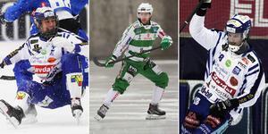 Joel Broberg, Stefan Edberg och Joakim Andersson är tre spelare som tar plats i Veckans lag. Bild: Jonna Igeland / Andreas Tagg / Leo Hägglund