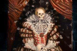 Hakuro Maedas målning av drottningen Maria Eleonora är en av Avesta arts höjdpunkter.Foto: Therese Asplund