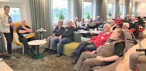 Naturvårdsverkets Ingela Hiltula informerade deltagarna från Ceniorgruppen. Foto: Olle Edlund.