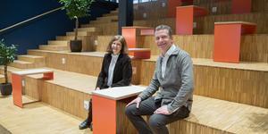 Eva Helén och Robert Kingfors jobbar långa dagar med att få allt att klaffa under Science week, som startar på onsdag.
