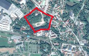 Äldreboende kommer att ligga på Kronanområdet. Karta: Google