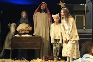 Det är julevangeliet som barn och ungdomar gestaltar i kyrkan.