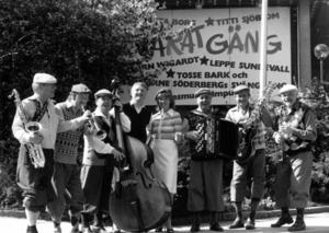 Det gamla swingbandet Vårat Gäng återuppstod för att spela på Yran 1986.